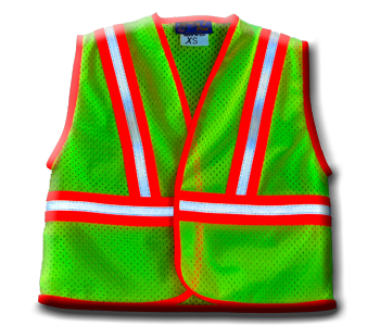 Green Orange/White Safety Vest